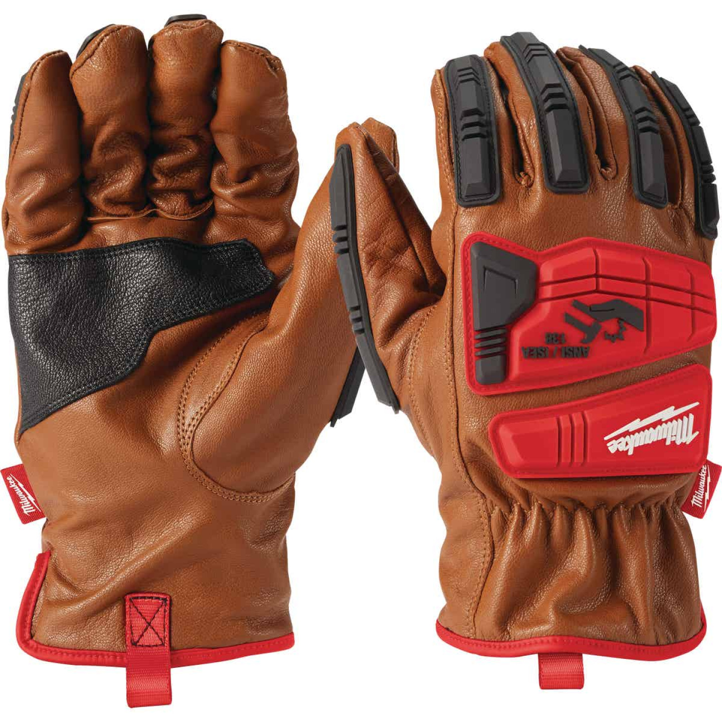 Milwaukee Impact Cut Level 3 Men's XL Goatskin Leather Work Gloves Image 3