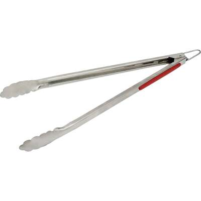 GrillPro 15 In. Stainless Steel Barbeque Tongs