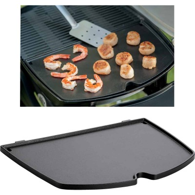 Weber Q 14.1 In. W. x 18.8 In L. Porcelain Enameled Cast Iron 200/2000 Series Gas Grill Griddle