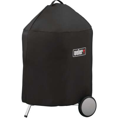 Weber Premium 22 In. Black Polyester Grill Cover