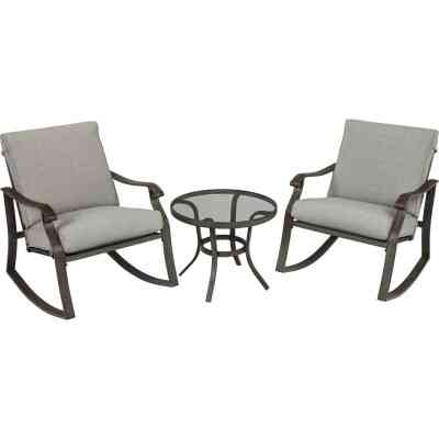 Outdoor Expressions Lyndon Rock 3-Piece Chat Set