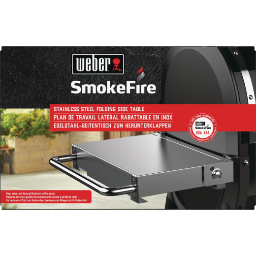 Weber SmokeFire Side Folding 15.58 In. W. x 5.71 In. L. Stainless Steel Grill Shelf