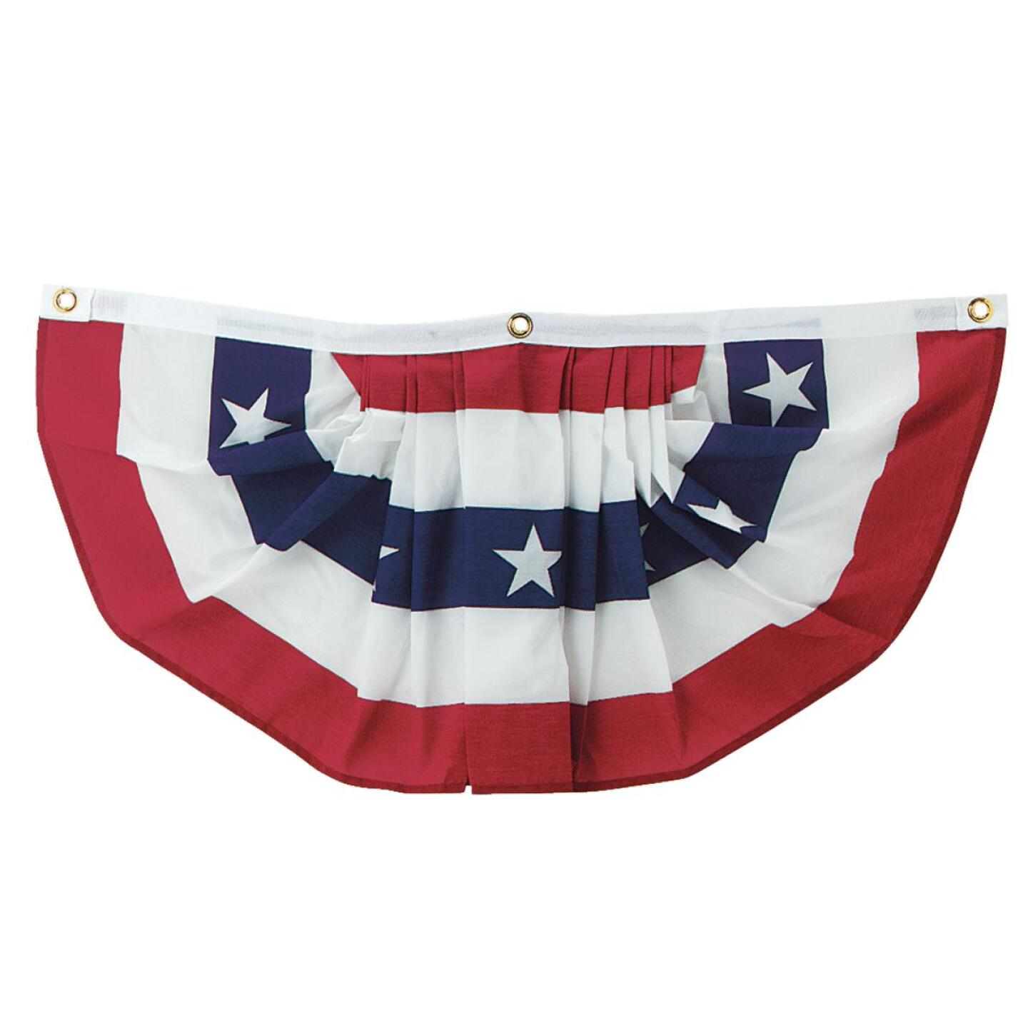 Valley Forge 1 Ft. W. x 3 Ft. L. Polycotton Fan Flag Bunting Image 1