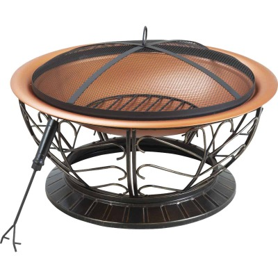 Outdoor Expressions 30 In. Coppertone Round Steel Fire Pit
