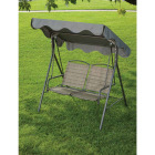 Outdoor Expressions 2-Person 61.41 In. W. x 64.96 In. H. x 47.24 In. D. Brown Patio Swing Image 4