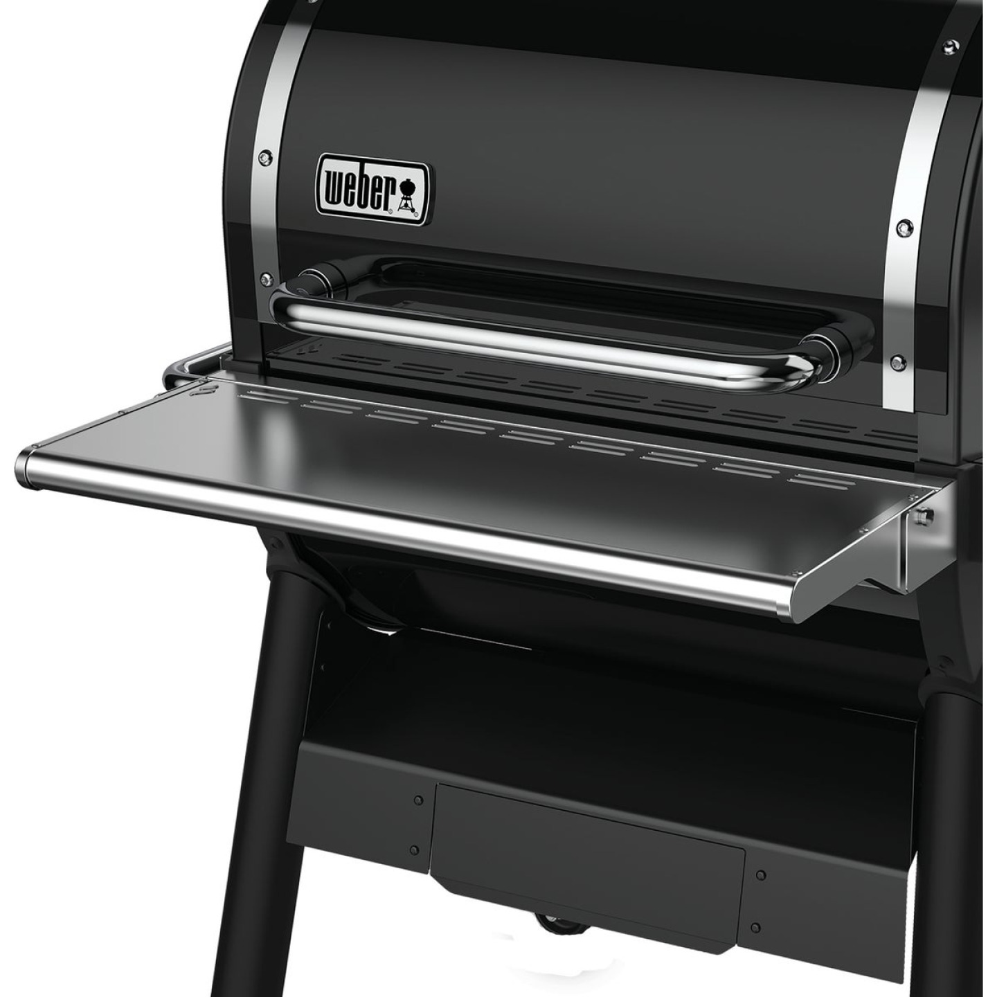 Weber SmokeFire EX4 Front Folding 28.66 In. W. x 4.29 In. L. Stainless Steel Grill Shelf Image 1