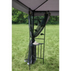Outdoor Expressions 12 Ft. x 12 Ft. Gray & Black Steel Gazebo with Sides Image 5