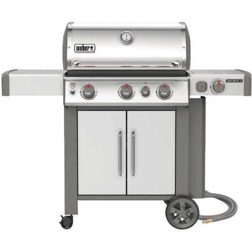 Weber Genesis II S-335 3-Burner Stainless Steel 39,000 BTU Natural Gas Grill with 12,000 BTU Side -Burner