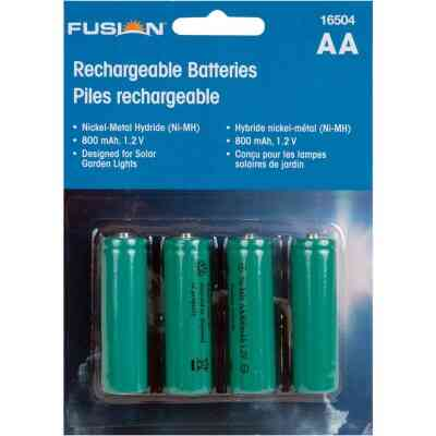 Fusion AA 600 mAh Ni-MH Solar Replacement Battery (4-Pack)