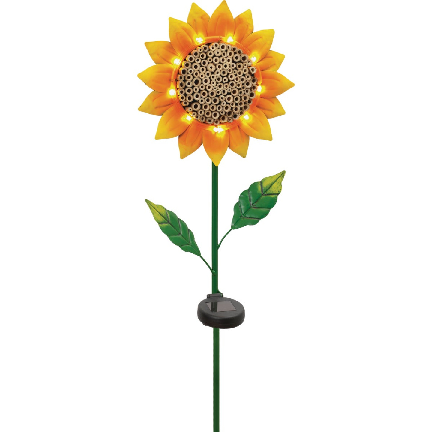Mission Gallery Lighted Metal Sunflower Insect House 32 In. Solar Stake Light Image 1