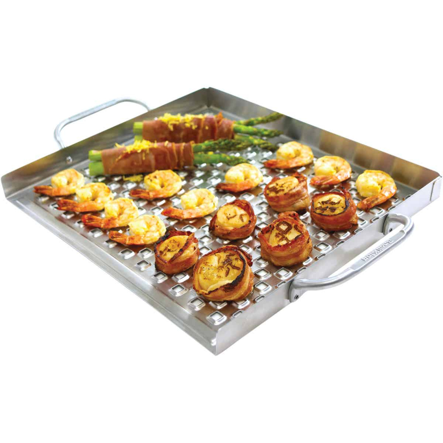 Broil King Imperial 15.5 In. W. x 13 In. L. Stainless Steel Flat Grill Topper Tray Image 4
