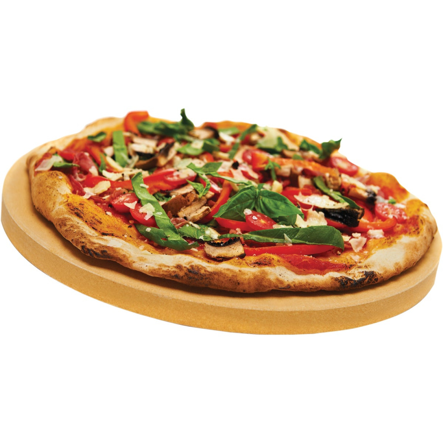 Broil King 15 In. Ceramic Composite Extra Thick Grilling Pizza Stone Image 2