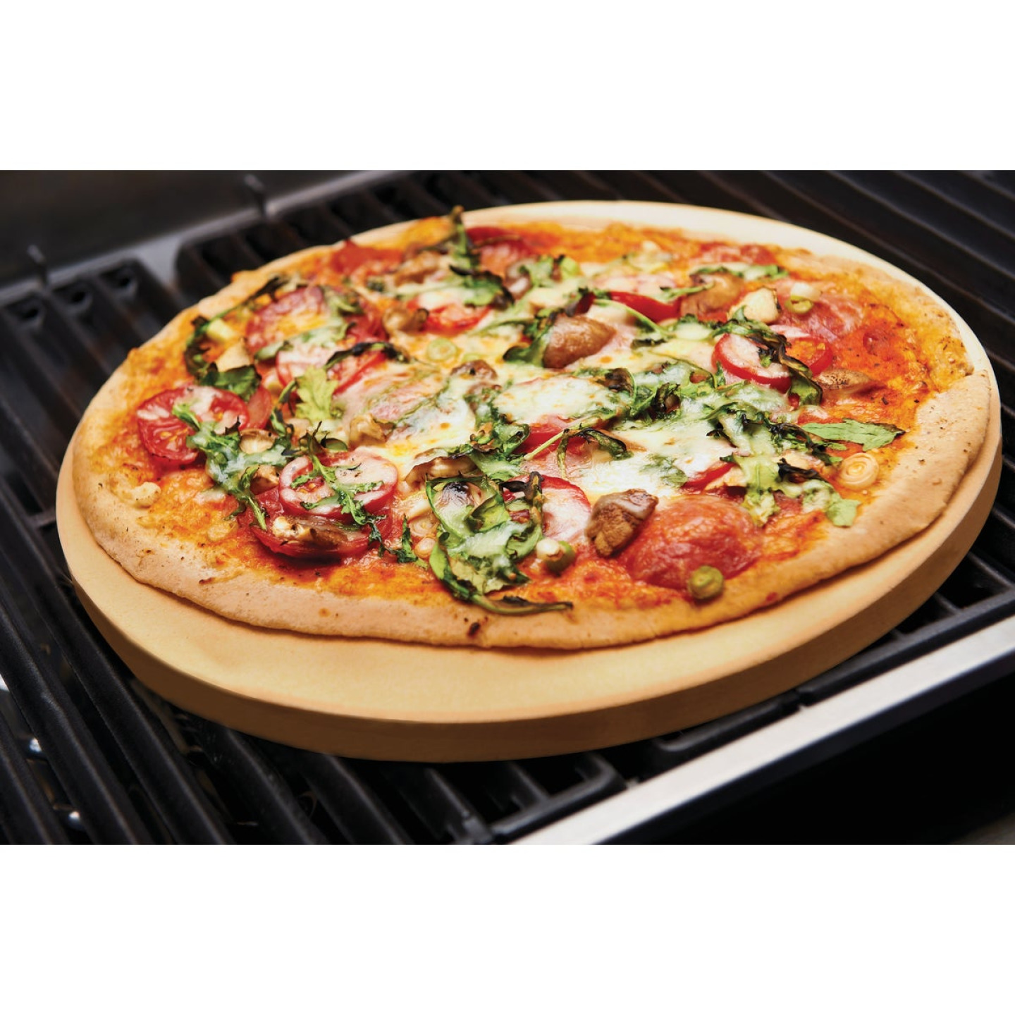 Broil King 15 In. Ceramic Composite Extra Thick Grilling Pizza Stone Image 4