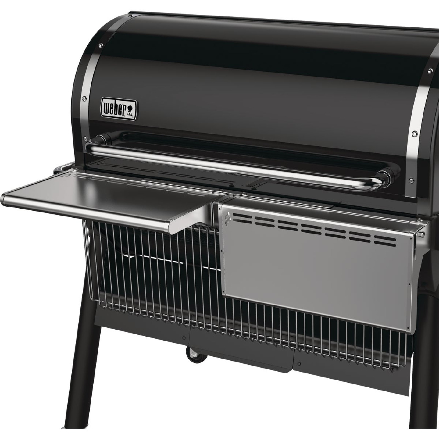 Weber SmokeFire EX6 Front Folding 21.66 In W. x 5.04 In. L. Stainless Steel Grill Shelf Image 4