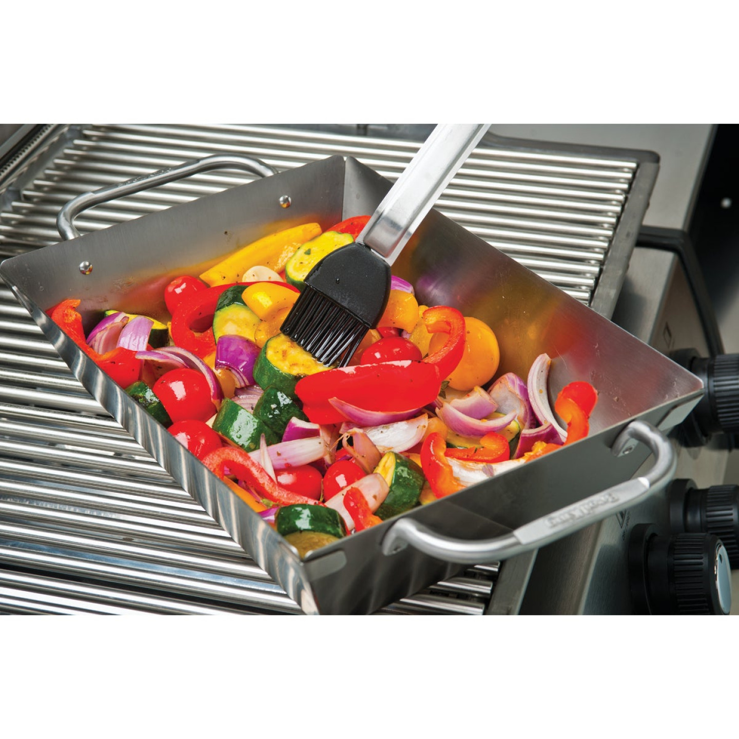 Broil King Imperial 13 In. W. x 9.75 In. L. Stainless Steel Grill Wok Topper Tray Image 3