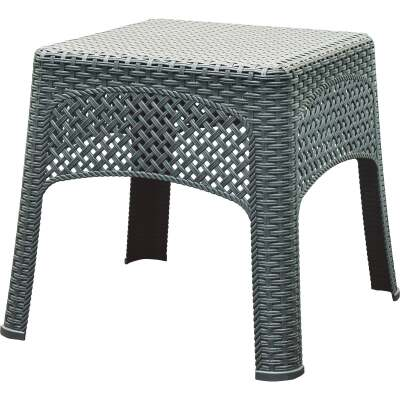 Adams Gray 18.5 In. Square Woven Poly Side Table