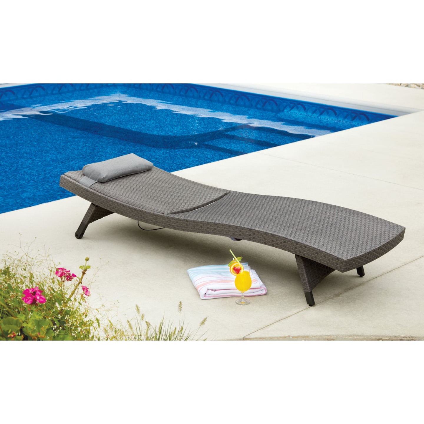 Pacific Casual Park Ridge Aluminum Chaise Lounge Image 4