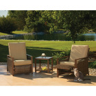Pacific Casual Quincy 3-Piece Aluminum Reclining Chat Set Image 2