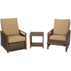 Pacific Casual Quincy 3-Piece Aluminum Reclining Chat Set Image 1