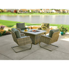 Pacific Casual Shady Creek 5-Piece Gas Fire Pit Chat Set Image 2