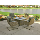 Pacific Casual Shady Creek 5-Piece Gas Fire Pit Chat Set Image 4