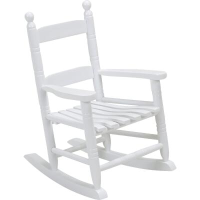 Knollwood White Wood Child Rocking Chair