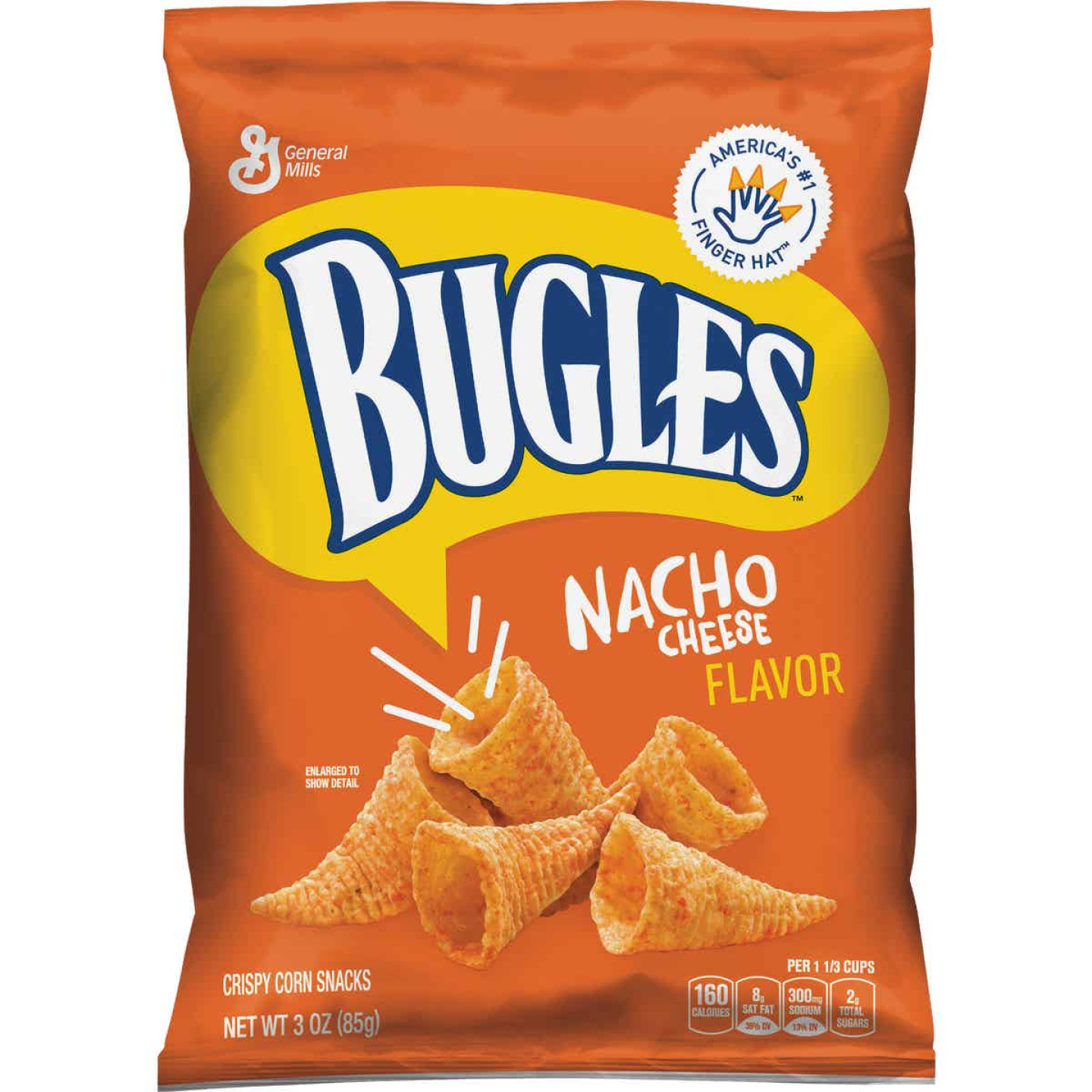 Bugles 3 Oz. Nacho Corn Snack Image 1