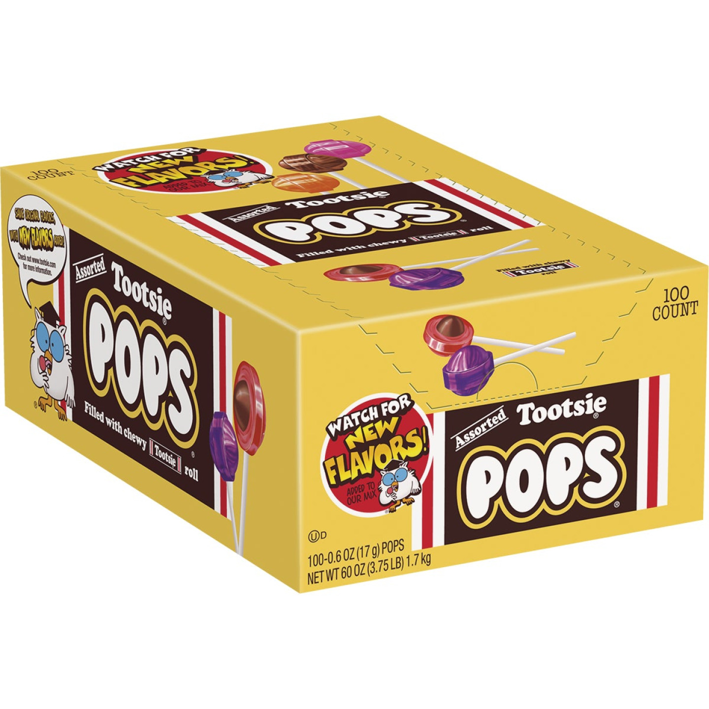 Tootsie Pop Assorted Flavor Lollipop Display (100-Count) Image 1