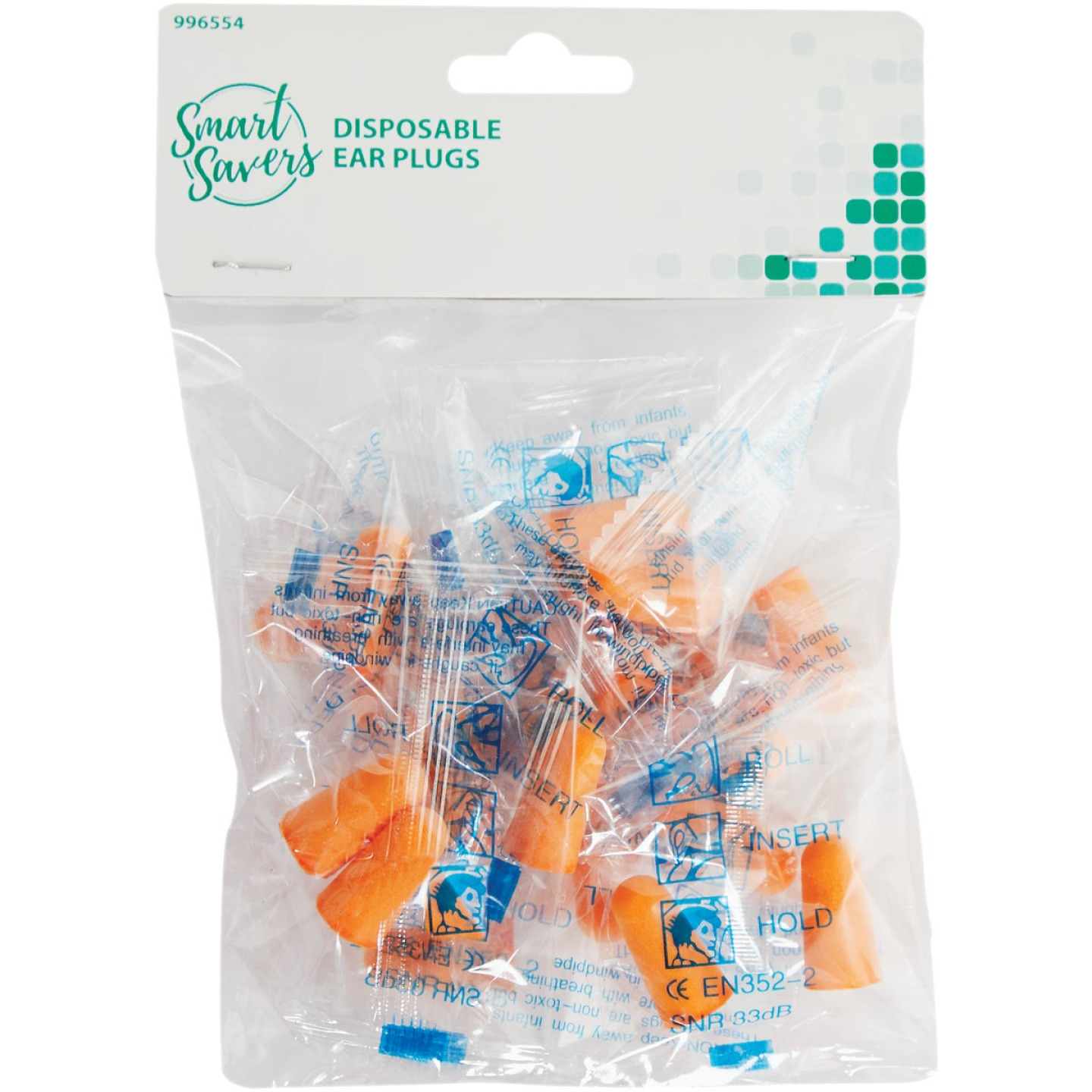 Smart Savers Foam Disposable Ear Plugs (10-Pair) Image 2